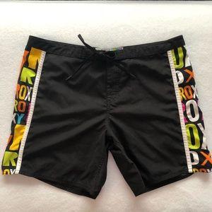 Roxy Women's Sz 11 Black Swim Shorts Polyester